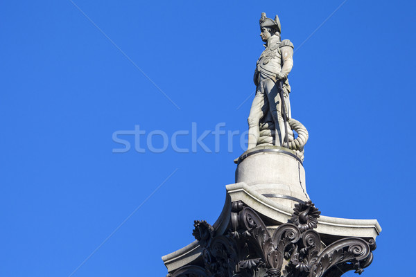 Admiral Horatio Nelson Statue on Nelsons Column Stock photo © chrisdorney