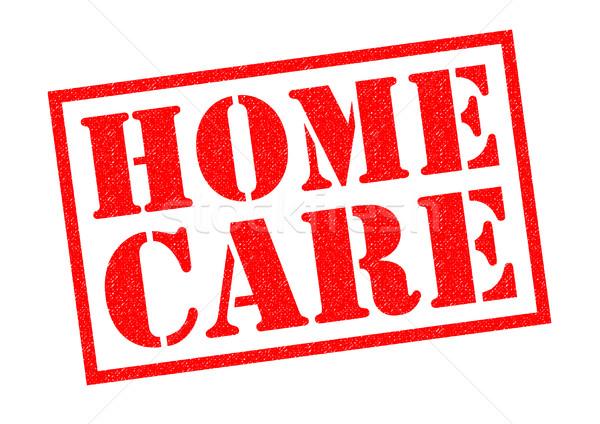 Cuidados en el hogar rojo blanco médicos industria Foto stock © chrisdorney