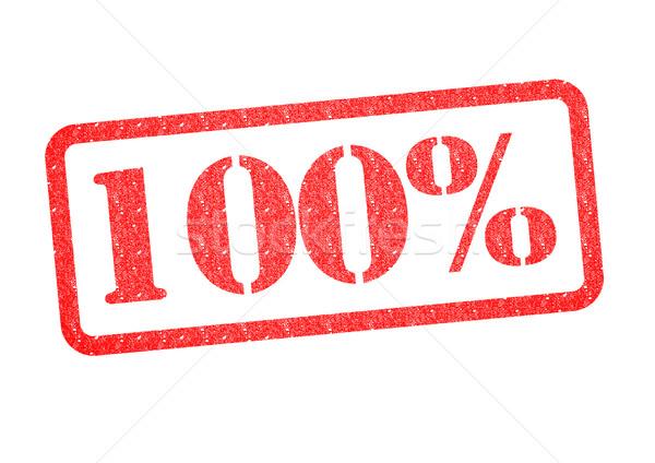 100% Rubber Stamp Stock photo © chrisdorney