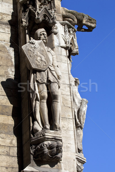 Sculptures on Brussels City Hall in Grand Place Stock photo © chrisdorney
