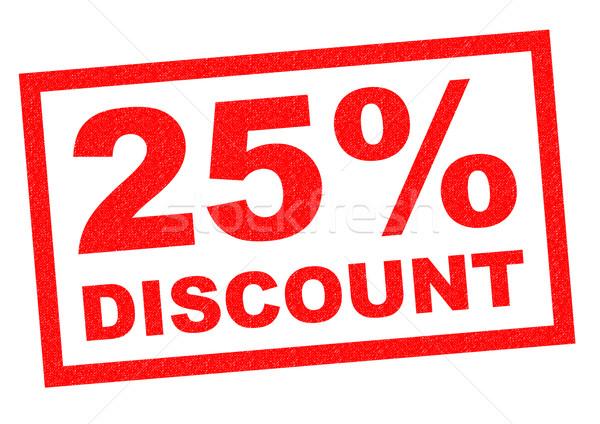 25% DISCOUNT Stock photo © chrisdorney