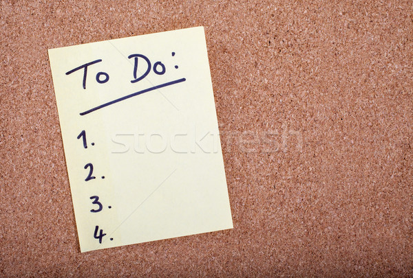 To Do List Stock photo © chrisdorney
