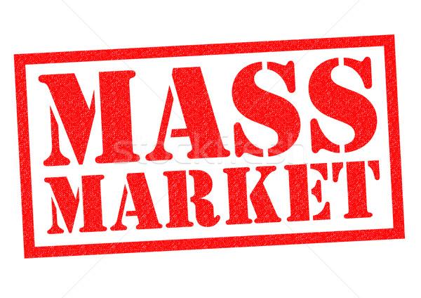 Masse marché rouge blanche affaires Photo stock © chrisdorney