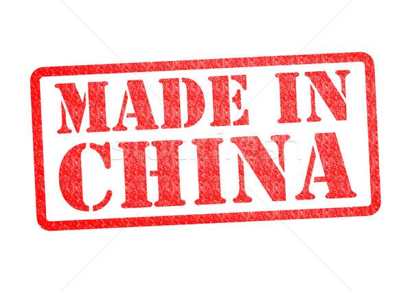 Chiny biały działalności czerwony chińczyk Zdjęcia stock © chrisdorney