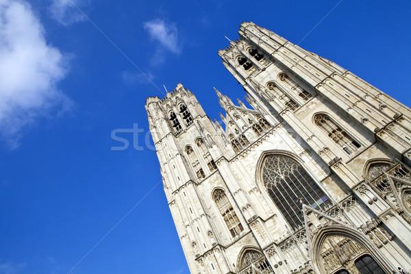 Katedrális Brüsszel lenyűgöző Belgium város templom Stock fotó © chrisdorney