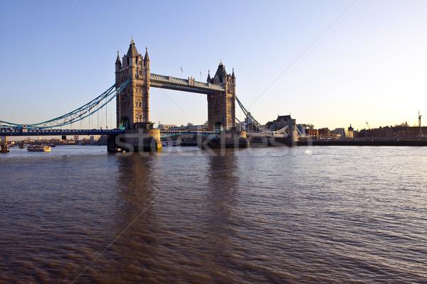 Tower Bridge and The River Thames at Sunset Stock photo © chrisdorney