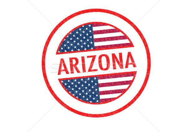 Аризона белый флаг отпуск кнопки Сток-фото © chrisdorney
