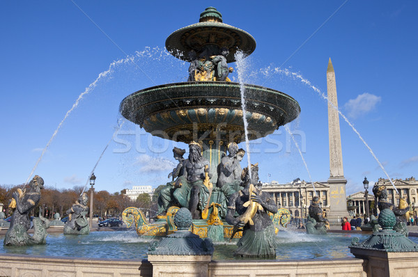 Place de la Concorde in Paris Stock photo © chrisdorney