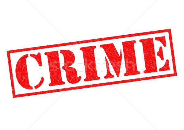 Bűnözés piros pecsét fehér rendőrség címke Stock fotó © chrisdorney