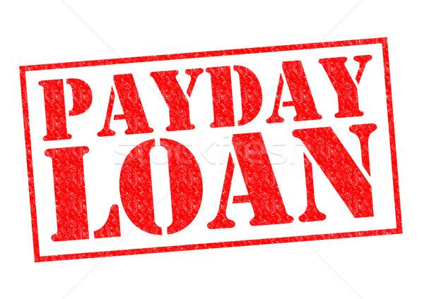 Betaaldag lening Rood witte bedrijf Stockfoto © chrisdorney