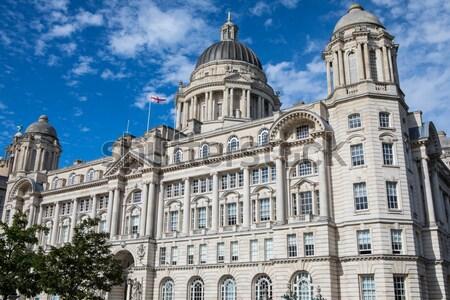 Porta Liverpool edifício histórico pier cabeça Foto stock © chrisdorney