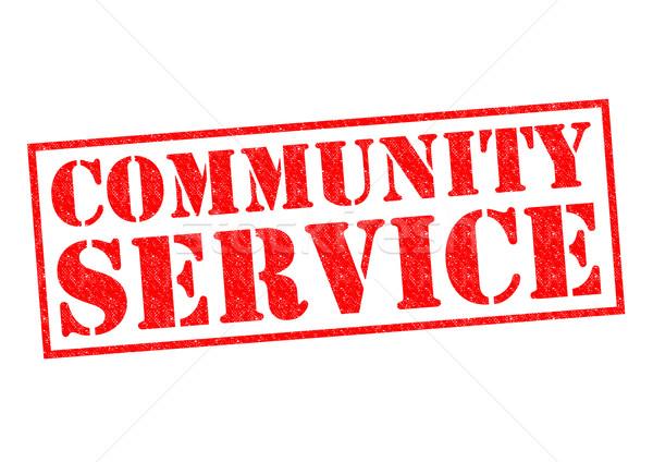 Gemeenschap dienst Rood witte recht Stockfoto © chrisdorney