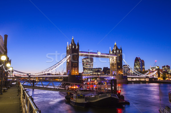 Ver Tower Bridge Londres belo rio Foto stock © chrisdorney
