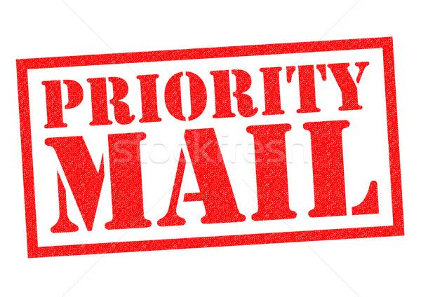 Prioridad mail rojo blanco comunicación Foto stock © chrisdorney