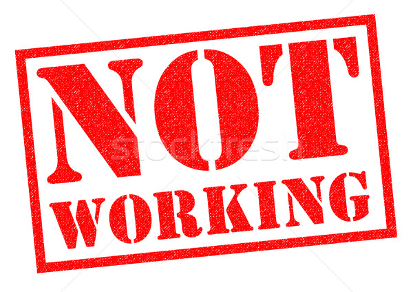 NOT WORKING Stock photo © chrisdorney