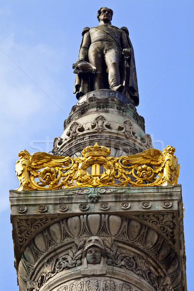 King Leopold I Statue on the Congress Column in Brussels. Stock photo © chrisdorney
