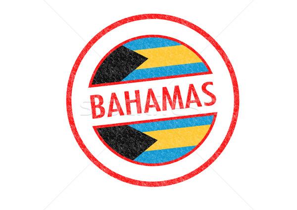 Bahamák pecsét fehér vakáció gomb útlevél Stock fotó © chrisdorney