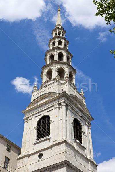 St. Bride's Church in London Stock photo © chrisdorney