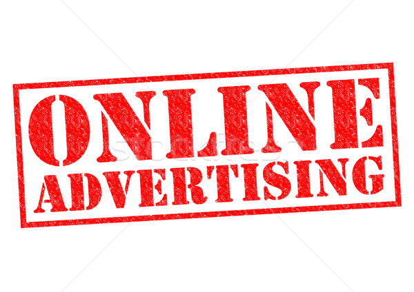 Online reclame Rood witte business Stockfoto © chrisdorney