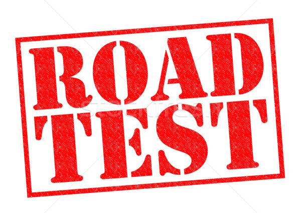 Weg test Rood witte veiligheid Stockfoto © chrisdorney