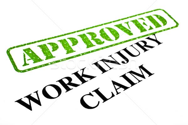 Work Injury Claim APPROVED Stock photo © chrisdorney