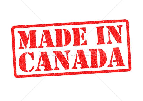 Kanada biały czerwony budować gumy Zdjęcia stock © chrisdorney
