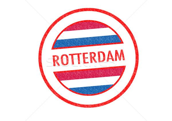 Rotterdam beyaz bayrak Avrupa tatil Stok fotoğraf © chrisdorney