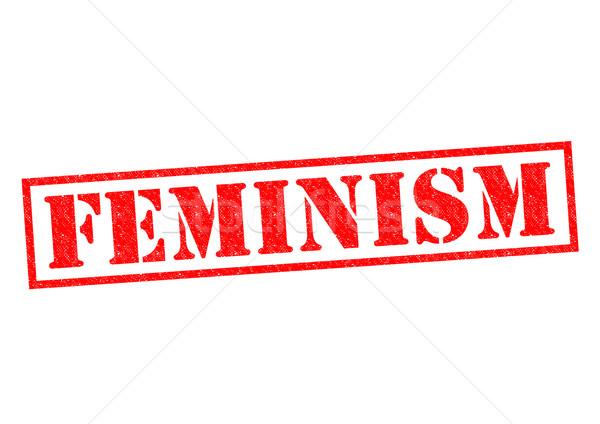 феминизм красный белый секс женщины Сток-фото © chrisdorney