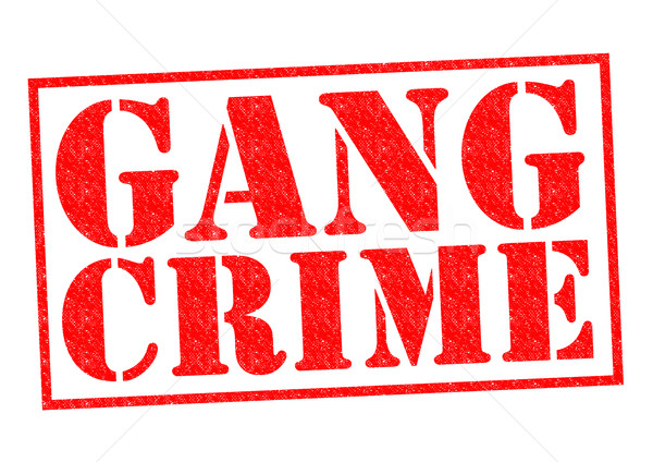 Gangue crime vermelho branco juventude Foto stock © chrisdorney