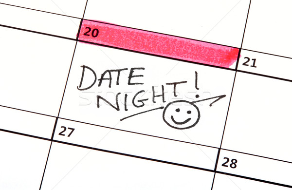 Date Night Written on a Calendar Stock photo © chrisdorney