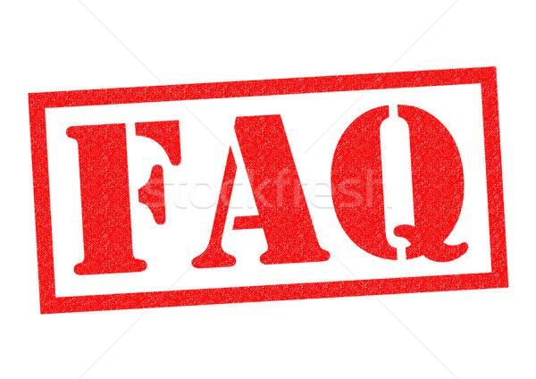 FAQ Rubber Stamp Stock photo © chrisdorney