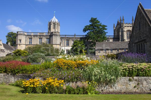 Mesih kilise bahçe oxford görmek kolej Stok fotoğraf © chrisdorney