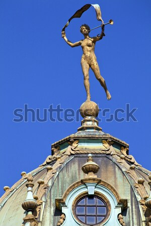Sculpture on Guildhall in Grand Place, Brussels Stock photo © chrisdorney