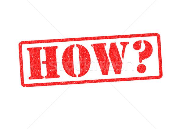 Branco assinar vermelho pergunta borracha Foto stock © chrisdorney