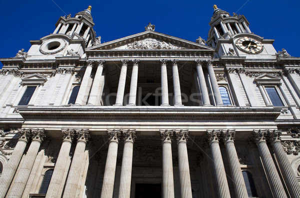 Cathédrale Londres impressionnant externe architecture statue Photo stock © chrisdorney