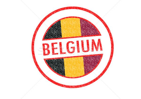 Belgium pecsét fehér vakáció gomb útlevél Stock fotó © chrisdorney