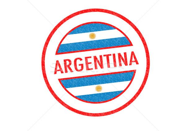 Argentina branco férias botão passaporte Foto stock © chrisdorney