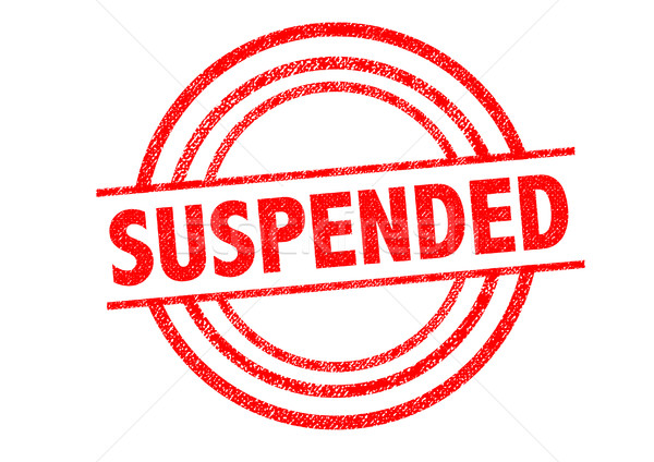 SUSPENDED Rubber Stamp Stock photo © chrisdorney