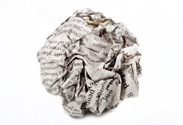 Screwed Up Paper Stock photo © chrisdorney