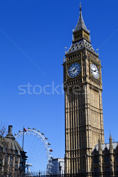 Big Ben maisons parlement Londres oeil Voyage Photo stock © chrisdorney