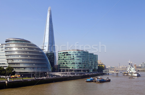 The Shard, City Hall, HMS Belfast and the River Thames Stock photo © chrisdorney