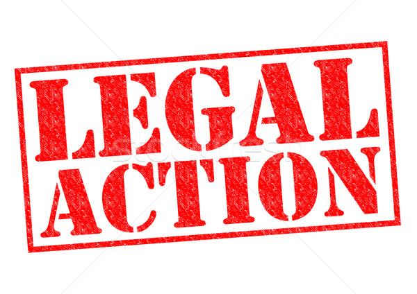 Jurídica acción rojo blanco delincuencia Foto stock © chrisdorney