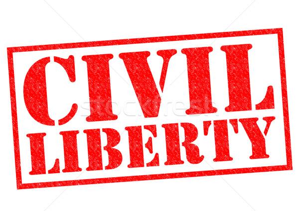 Civile liberté rouge blanche droit Photo stock © chrisdorney