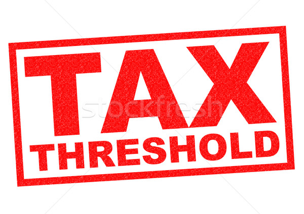 TAX THRESHOLD Stock photo © chrisdorney