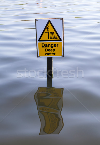 Danger Deep Water Stock photo © chrisdorney