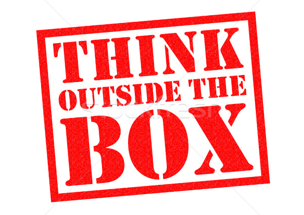 Pensar fora caixa vermelho branco Foto stock © chrisdorney