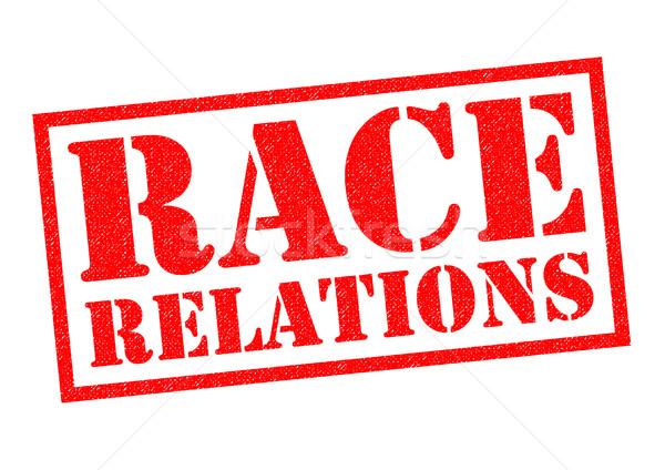 Yarış ilişkileri kırmızı beyaz barış Stok fotoğraf © chrisdorney