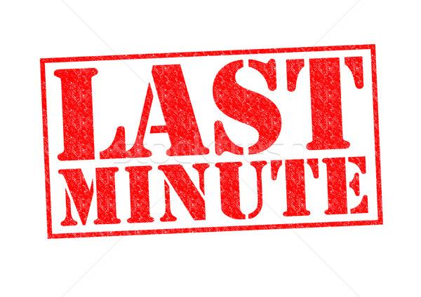 Utolsó perc pecsét fehér címke gumi Stock fotó © chrisdorney