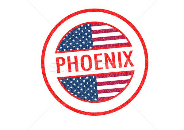 Phoenix witte vakantie knop paspoort Stockfoto © chrisdorney