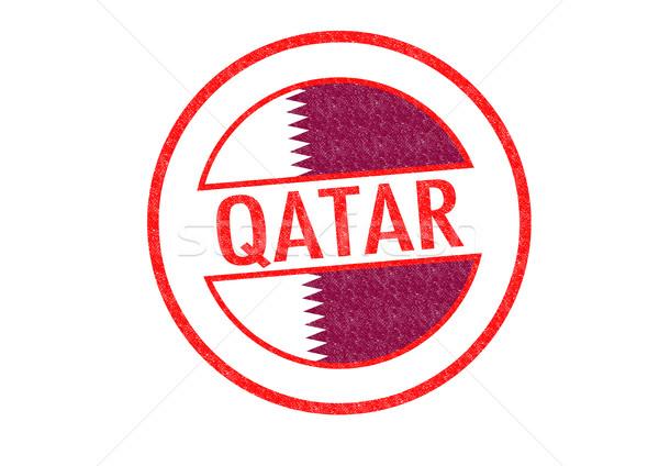Katar beyaz bayrak Asya Asya Stok fotoğraf © chrisdorney
